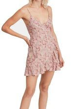 Free People Womens Wrap Dress Pink Size Small S All My Love Floral $68 330