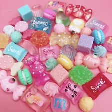 NEW 15x Kawaii Resin Sweets Candy Cabochons Cute Decoden Pastel Charms Flatbacks