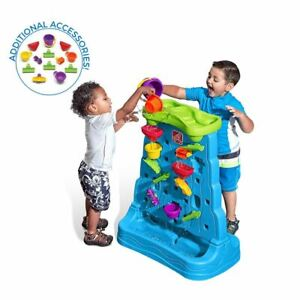 Step2 Waterfall Discovery Wall Outdoor Water Toy With 13 Piece Accessory Set