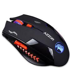 Wireless Mouse Gaming Slient USB 2400 Ergonomic Design 6 Buttons Scrub Noiseless