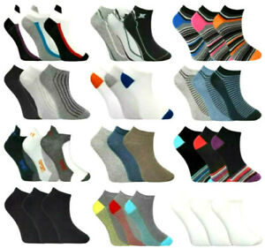 Trainer Socks Low Cut Summer Cotton Rich Mens or Womens Black White or Colours