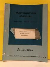 Lambda Power Supplies Models LK-350 - LK-352 Instruction Manual