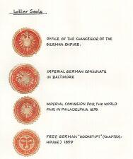 *Kengo* 1800's Germany Empire letter seals Consulates Bavaria Hochstift