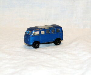 Vintage 70's Playart VW Station Wagon Blue Rare ( Missing Doors )   HONG KONG
