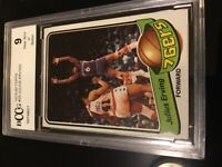 1979 Topps Basketball #20 Julius Erving BCCG 9 PSA REGRADEABLE NM /MINT