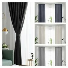 Pair of (2 Panels) Blackout Curtains Ready Made Thick Eyelet Ring Top Quality UK