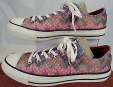 Womens CONVERSE Missoni 9.5 CT OX Egret Metallic Multi Shoes$95 147338C Mens 7.5