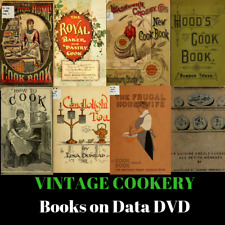 VINTAGE COOKERY BOOKS - 391 Books on Data DVD - Cooking Recipes How To Learn
