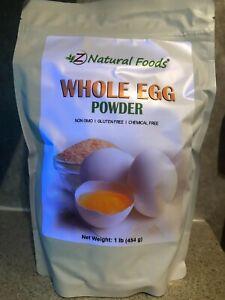 1-lb Non GMO Powdered Eggs, Whole Egg Powder, White & Yolk, Ideal Emergency Food
