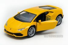 Lamborghini Huracan LP 610-4 yellow, Welly scale 1:34-39, model toy car gift