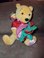 Pooh Roses Happy Valentine's Day 2007 stuffed plush bean bag Walt Disney Disneyl