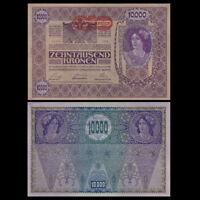 Austria 10000 10,000 Kronen, 1918, P-66, Big size, A-UNC
