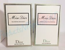 LOT of 2~Christian Dior MISS DIOR BLOOMING BOUQUET+ABSOLUTELY BLOOMING Samples