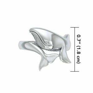Blue Whale Ring .925 Sterling Silver by Peter Stone Fine Jewelry
