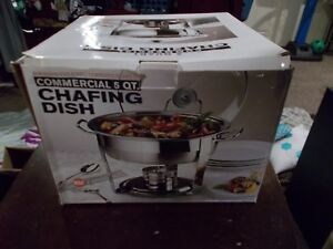 Commercial Chafing Dish 5 quart Braising Pan Stovetop Oven Stainless Steel Frame
