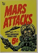 2018 Topps 80th Anniversary Wrapper Art Card  Mars Attacks