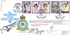RAF FDC56 1998 Diana RAF FDC signed CO 3 Harrier Sqn PORTER & COMMODORE MEYER