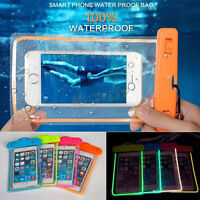 Luminous Glow Waterproof Underwater Pouch Dry Bag Case Cover for Cell Phone XY