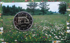 Kuh, mucca , Cow COINCARD 2016 Lettland Latvia 2 Euro  COIN CARD UNC