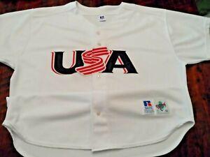 Team USA baseball jersey Men's 2XL 52 Russell Athletic shirt Diamond Collection