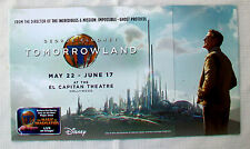 EL CAPITAN THEATRE Flyer Invitation Program Brochure TOMORROWLAND George Clooney