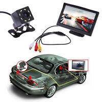 "5.0"" Car Rear View System Monitor+Night Vision Backup Reverse Parking Camera Kit"