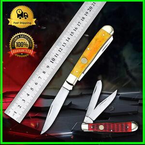 Boker Medium Black Bone Tree Hunting Blade Folding Pocket Camping Knife tool
