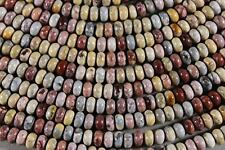 "MEXICAN SKY EYE JASPER 4x6MM RONDELLE BEADS 16"" STR"