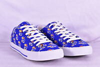 Unisex Row One NCAA Kansas Jayhawks All Over Logo Low Top Lace Up Shoes, Blue