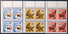 1972 Papua New Guinea Stamps - National Day - Corner Blocks of 4 - Set of 3 MNH