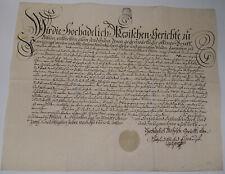 Schnörkel-Geburtsbrief Rittergut Böhlen (Grimma) 1782 für Johann Christian Stein