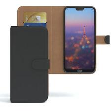 Tasche für Huawei P20 Lite Flip Case Schutz Hülle Cover Schwarz