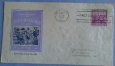 First day of issue, 1938 Tercentenary First Swedish Settlement, # 836