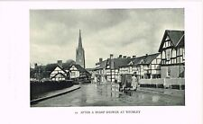 Weobley Herefordshire After A Sharp Shower Vintage 1946 Picture Print WBC#52