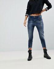 NWT DIESEL Women's Fayza R608F Relaxed-Boyfriend Low Waist Stretch Jeans 28