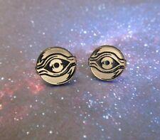 Millennium Eye Yu-Gi-Oh Items Golden Cosplay Stud Earrings, Yugioh, Posts