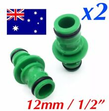 "2PCS - 12mm / 1/2"" - Garden Hose Connector Adapter Joiner 2 Way Fitting Male End"