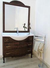 arredo bagno arte povera da 105 cm in legno mobile  bagno classico in offerta