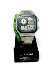 Casio Men's Digital LED World Time Stainless Steel Watch AE1200WHD-1A