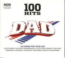 100 HITS DAD - 5 CD BOX SET - ALICE COOPER, CHRIS REA, THE SMITHS, ECHO & MORE