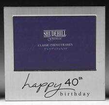 Occasion Silver Tone Picture Frame for 40th Birthday 72240