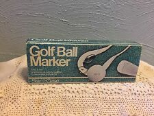 Golf Ball Marker Monogrammer Kit Vintage 1986 by Star Case Personalize 3 Initial