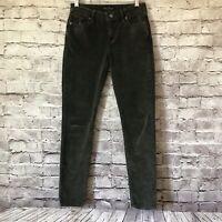 Lucky Brand 2/26 2 Green Womens Skinny Brooke Velvet Denim Legging Pants $99