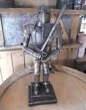 déco Armure de chevalier ancien moyen-âge Style Métal Ritter épée