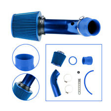 """Universal 3"""" Aluminum Air Flow Intake Kit Blue Pipe + Cold Air Intake Filter(Fits: More than one vehicle)"""
