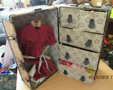RARE DOLLS WARDROBE TRUNK (early 1900)