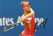 TENNIS: TEREZA SMITKOVA SIGNED 6x4 ACTION PHOTO+COA *WIMBLEDON*