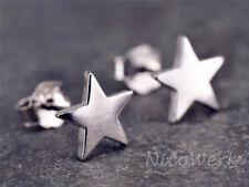 Silber Ohrstecker Stern Glatt Glänzend Cosmos Damen 925 Ohrringe Stecker