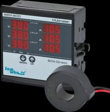 Digital Multimeter Contains 3ct Three Phase Volt Ampere Frequency Phase Display