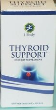 1 Body Thyroid Support Dietary Supplement - 180 Vegetarian Capsules 3 x 60 Count